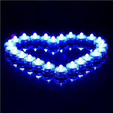 blue tea light candles 10pcs romantic blue led tea light waterproof flameless electronic