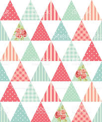 cute seamless vintage pattern as patchwork in shabby chic style
