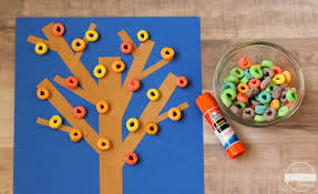 books about the color blue cereal fall tree craft