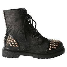 womens black combat boots target s rock studded combat boots target