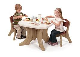 step2 table and chairs green and tan amazon com step2 traditions table chairs set toys games