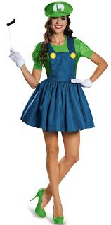 party city halloween masks kids super mario luigi w skirt costume for women buycostumes com
