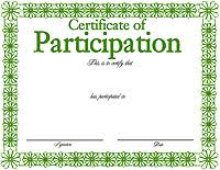 images green certificate border template