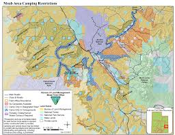 Utah State Parks Map by Blm Campgrounds Surrounding Moab Utah