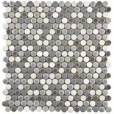 penny  mosaic tile  tile  the home depot with comet penny round  from homedepotcom