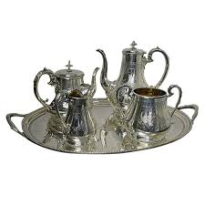 silver matching services antique silver tea coffee service tray 141ozs coffee