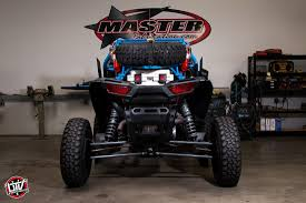 master fabrication s beautiful blue duo from utvunderground com the interior of the rzr has color matched and stitched beard race seats and a pci 4 link intercom system for navigation brian has multiple gps units in the
