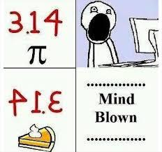Pie Meme - mind blown meme pie dump a day