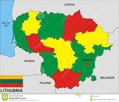 Map Of Lithuania Lithuania Map Stock Illustration Illustration Of Lithuania 20303457