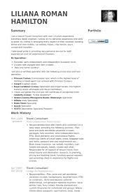 Cv And Resume Sample by Travel Consultant Resume Samples Visualcv Resume Samples Database