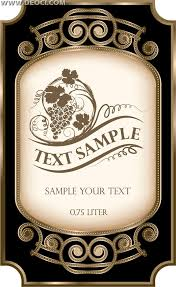 editable label pdf great for making custom wine bottle labels and