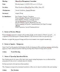 Example Of Cover Letter For A Resume by Meeting Minutes Sample Format For A Typical Meeting Minutes