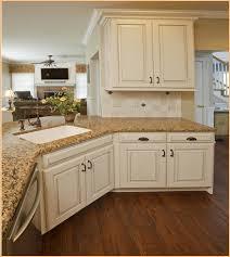 Kitchen Granite Ideas Amazing White Kitchen Cabinets With Brown Granite Countertops