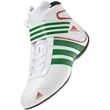 motor racing footwear adidas kart xlt karting boot white green
