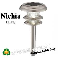Bright Solar Landscape Lights Bright Solar Stainless Steel Bright White Nichia Leds