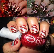 nail art easy holiday nail art ideas red ribbon xmas nails design
