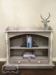 charming farmhouse style bookcase makeover with distressed chalk