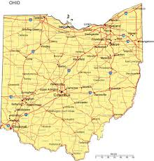 united states major cities map ohio map