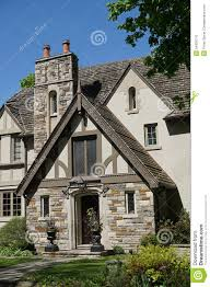 Tudor Style House Tudor Style House Entrance Stock Photo Image 54326710
