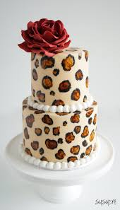 leopard print cake susucre