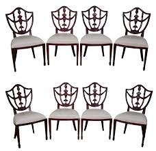 shield back dining room chairs maitland smith solid mahogany federal style shield back dining