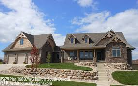 house plan 16807wg comes to life in south dakota on a sloping lot