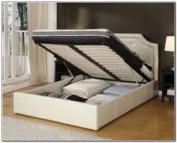 White Metal Kingsize Bed Frame Top 64 Splendid Frame With Storage Platform King â
