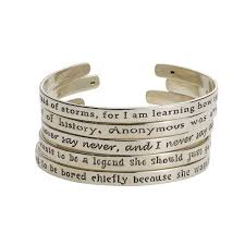 bracelet women silver images Sterling silver famous quotes by famous women cuff bracelets at jpg