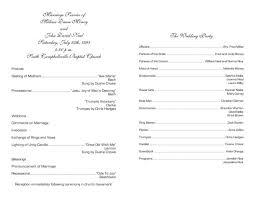 wedding ceremony program template free program template free leversetdujour info
