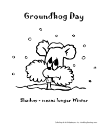 groundhog coloring pages shadow means longer winter