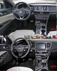 Optima Kia Interior Optima 2015 Vs 2016 In Pictures Side By Side