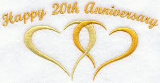 20 year wedding anniversary 10 year wedding anniversary symbol happy anniversary 20