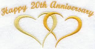 20th wedding anniversary 10 year wedding anniversary symbol happy anniversary 20