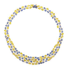 yellow sapphire necklace images Tenenbaum jewelersgold blue yellow sapphire necklace tenenbaum jpg