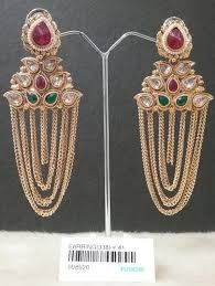 jhumka earrings with chain fusion chandelier chain jhumka earrings rs 205 pair fusion arts