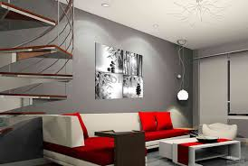 Modern Home Decor With White And Red Living Room Set Home Decor