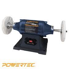 powertec bf600 heavy duty bench buffer 6 inch amazon com