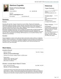 Sample Executive Director Resume by Food And Beverage Controller Cover Letter