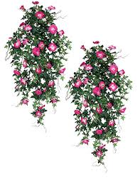 hanging flowers two 40 morning artificial hanging flower bushes