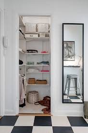 Storage Ideas Small Apartment Apartments Cool Small Apartment Walk In Closet Design With Rattan