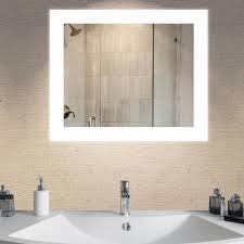 Bathroom Vanity Mirror With Lights Led Light Bathroom Mirrors Bath The Home Depot