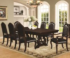 9 Pc Dining Room Set by Bedford 9 Piece Dining Table Chair Set Coaster 105601 105602 105603