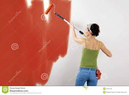 painting a wall painting a wall stock images image 607644