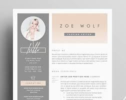 creative cover letter design resume template and cover letter references template for