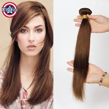 Light Brown Hair Extensions Cheap Unifos Light Brown Human Hair Extensions Single Bundle