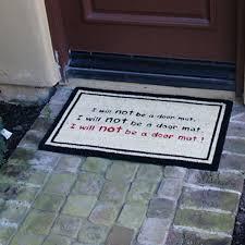 Rubber Cal Inc Wipe Your Rubber Cal Inc I Will Not Be A Door Mat Funny Doormat U0026 Reviews