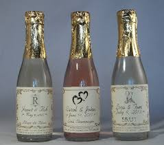 wine bottle favors personalized wedding favors sparkling cider wine chagne mini