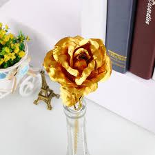 Gold Rose 24k Gold Plated Golden Rose Flower Valentine U0027s Day Lovers
