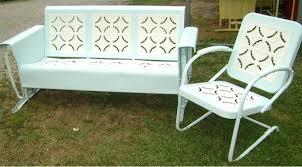 Outdoor Metal Patio Furniture 50 S Retro Metal Lawn Chairs Thedigitalhandshake Furniture