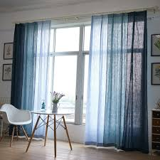 Country Style Curtains For Living Room by Aliexpress Com Buy Blue Cotton Texture American Country Style